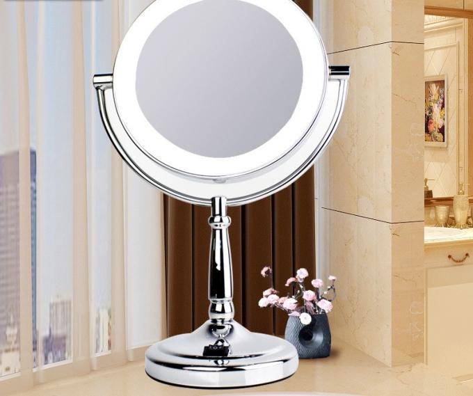 Doble-cara-espejo-de-maquillaje-con-luz